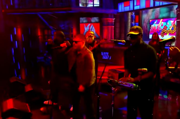 "Run the Jewels ""Angel Duster"" (ft. TV on the Radio) (live on 'Colbert')"