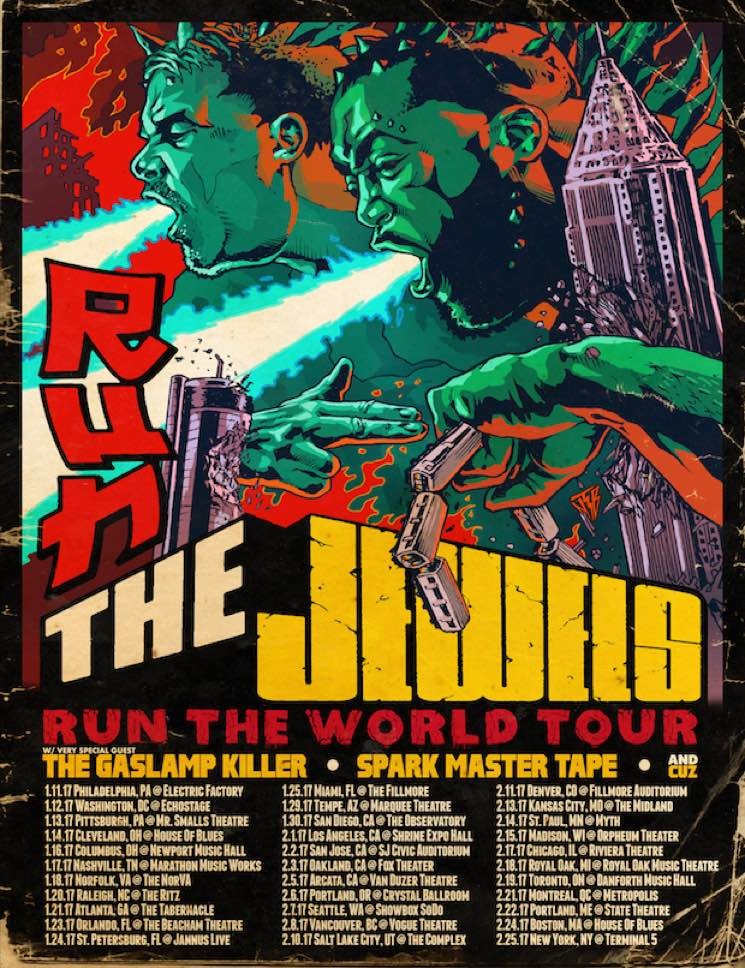 "​Run the Jewels Plot 2017 ""Run the World"" Tour"