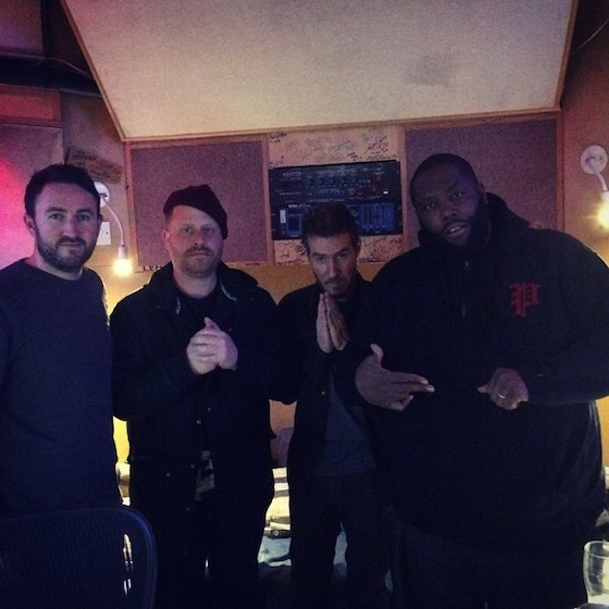 Run the Jewels Hit Studio with Massive Attack