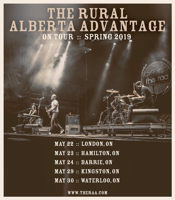 Rural Alberta Advantage Announce Canadian Spring Tour