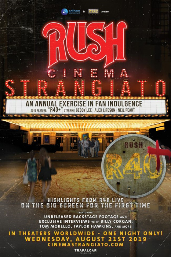 "Rush Announce One-Night ""Cinema Strangiato"" Film Event"