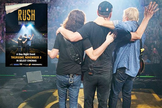 Rush's 40th Anniversary Tour Documentary Will Come to Theatres This Fall