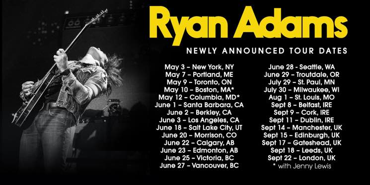 ​Ryan Adams Hits Canada on North American Tour
