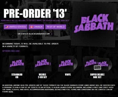 Black Sabbath Set Release Date for '13'