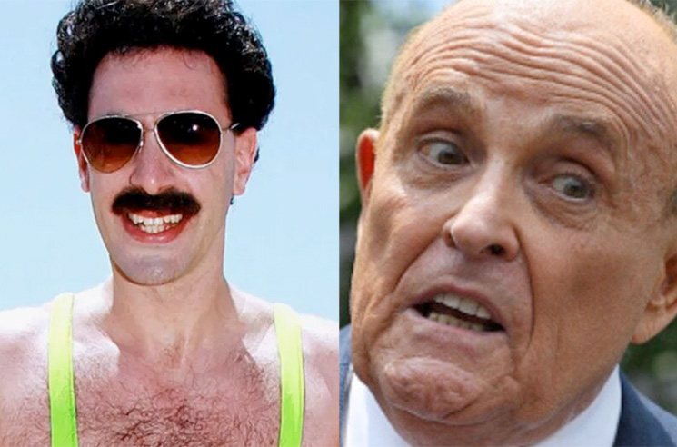 Sacha Baron Cohen Dresses In Drag To Prank Rudy Giuliani, Cops Called