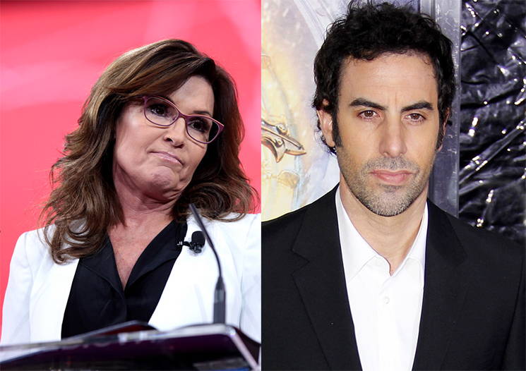 Sarah Palin Says Sacha Baron Cohen Tricked Her into an Interview by Posing as a Disabled Veteran