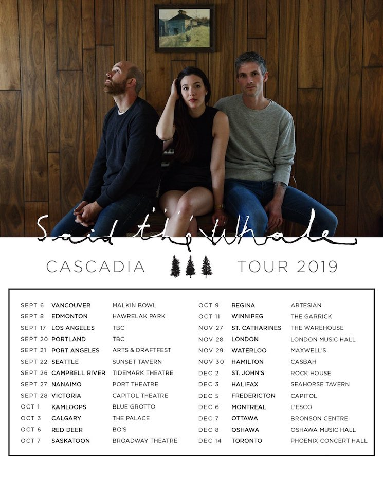 Said the Whale Bring 'Cascadia' on Canadian Tour