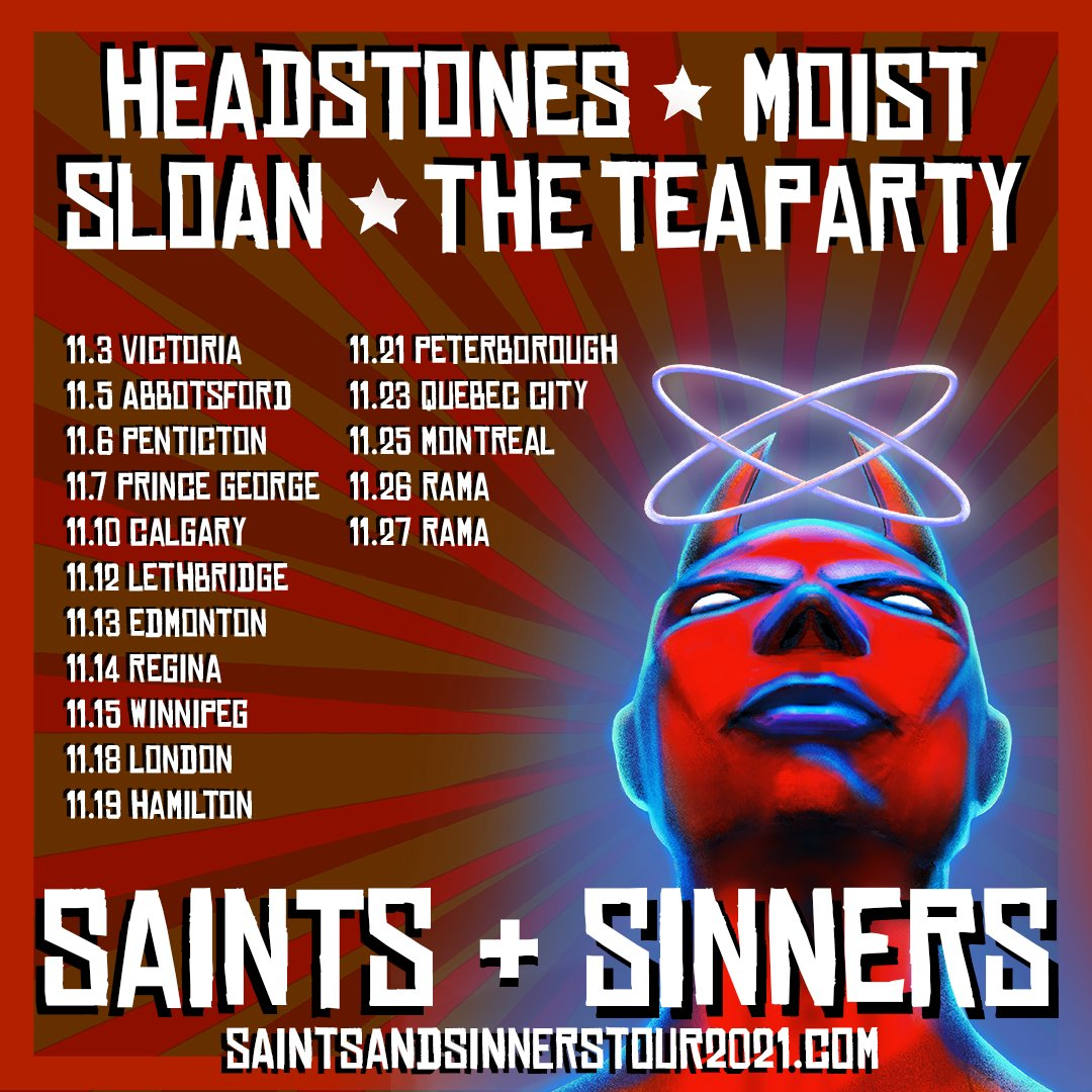 Sloan, Moist, Headstones and the Tea Party Announce New 2021 Dates