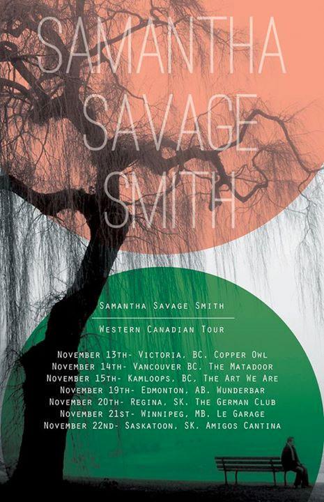Samantha Savage Smith Books Western Canadian Tour