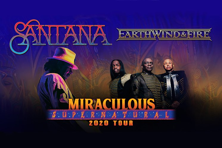 Santana and Earth, Wind & Fire Announce 'Miraculous Supernatural 2020 Tour'