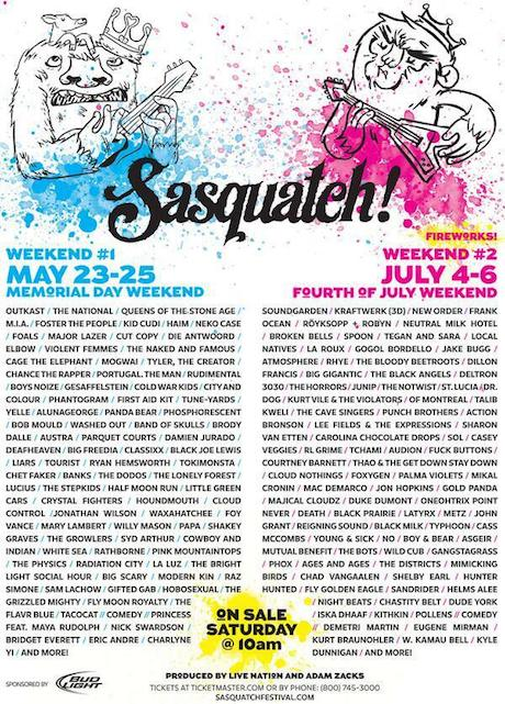 Sasquatch! Nabs Outkast, Kraftwerk, New Order, Queens of the Stone Age