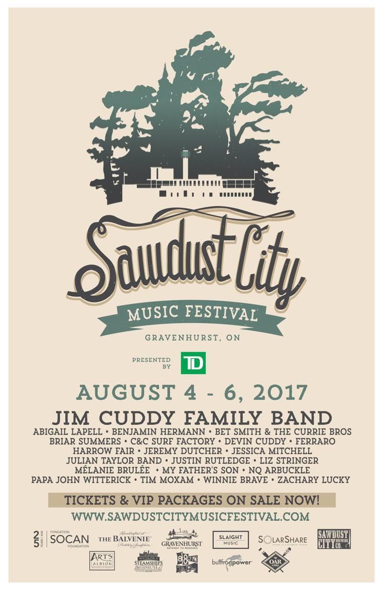 Ontario's Sawdust City Music Festival Reveals Inaugural 2017 Lineup