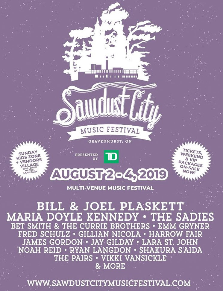 Ontario's Sawdust City Music Festival Unveils 2019 Lineup with Bill & Joel Plaskett, the Sadies