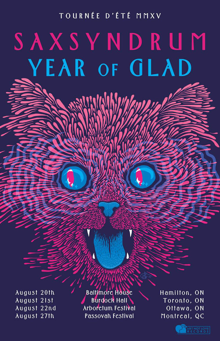 Saxsyndrum and Year of Glad Reveal Joint Canadian Tour