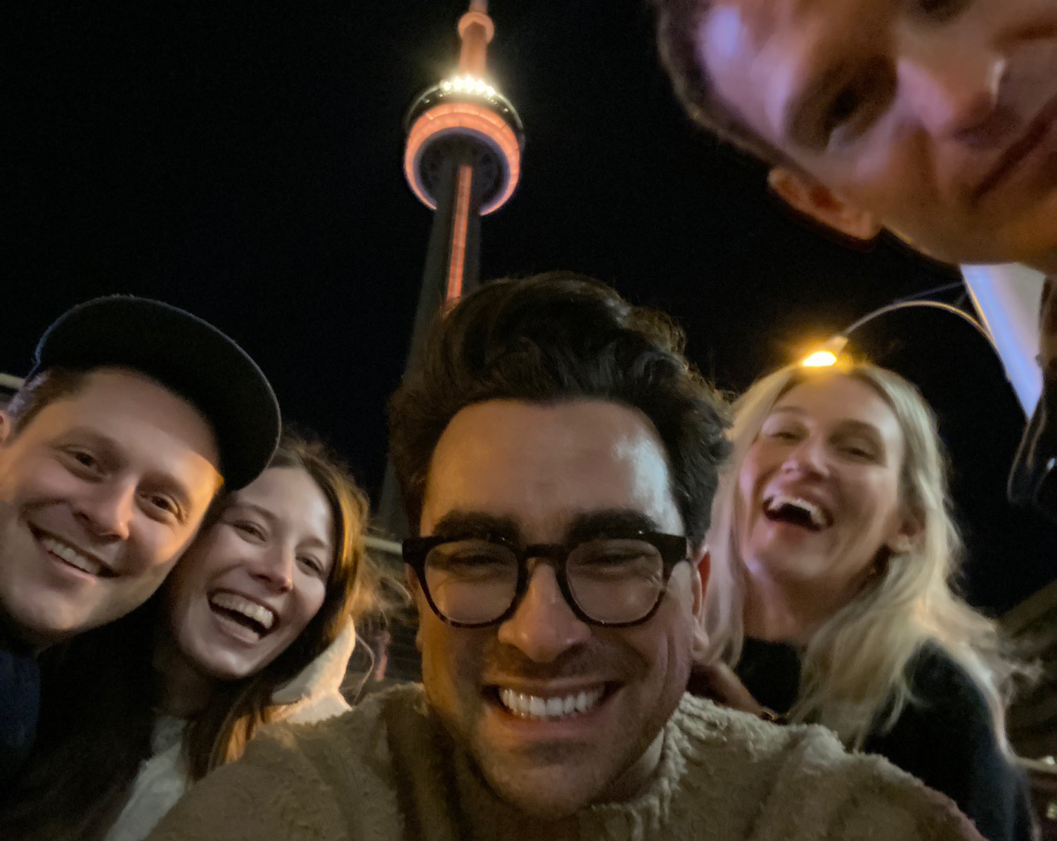 The CN Tower Was Lit Up Gold to Celebrate 'Schitt's Creek'