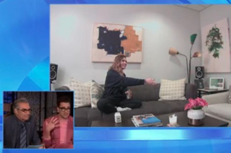 ​Watch Eugene and Dan Levy Pull a Prank on 'Schitt's Creek' Co-Star Annie Murphy on 'Ellen'