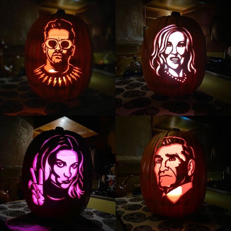 Celebrate Halloween with Canadian Pumpkin Carvings of the Tragically Hip, 'Schitt's Creek,' PUP and More