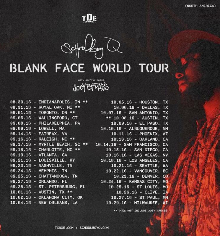 "ScHoolboy Q Plots ""Blank Face World Tour"" with Joey Bada$$"