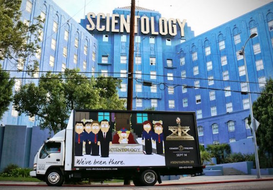 'South Park' Trolled the Church of Scientology and the White House with Mobile Billboards