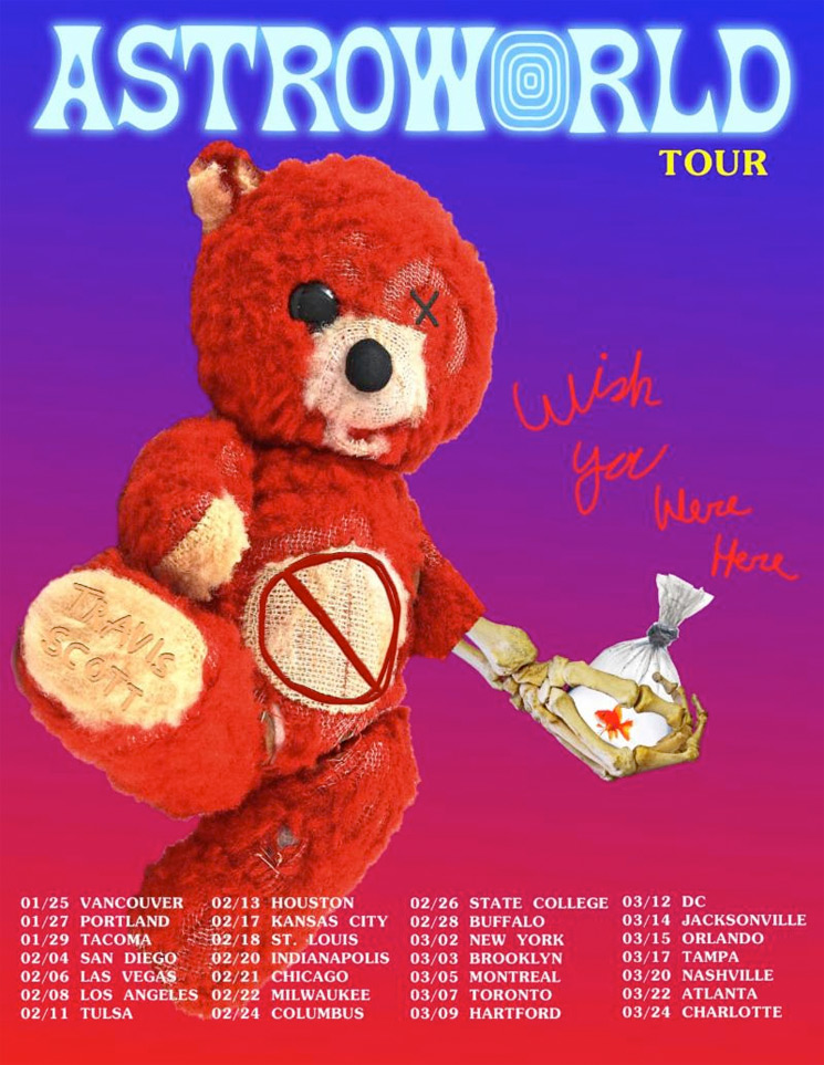 Travis Scott Extends North American Tour, Adds Canadian Dates