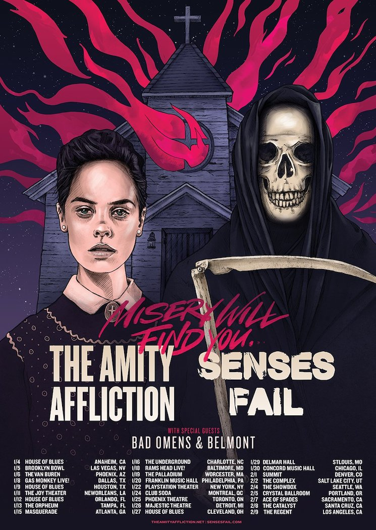 Bad Omens Reportedly Cancel Tour with the Amity Affliction and Senses Fail Because Their Name Was Too Small on the Poster