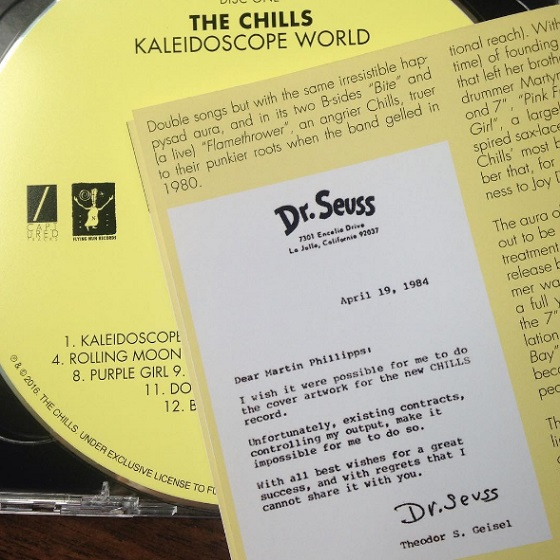 Dr. Seuss Turned Down the Chills' Request for 'Kaleidoscope World' Cover Art