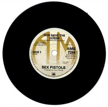 "Sex Pistols' ""God Save the Queen"" Single Named Most Collectable Record"