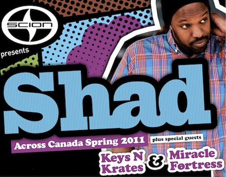 Shad Teams Up with Miracle Fortress and Keys N Krates for Expanded Canadian Tour