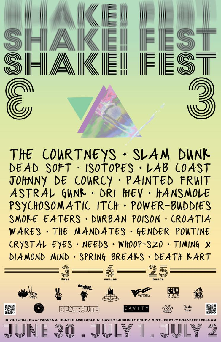 Victoria's Shake! Fest Unveils 2016 Lineup with  the Courtneys, Dead Soft, Slam Dunk