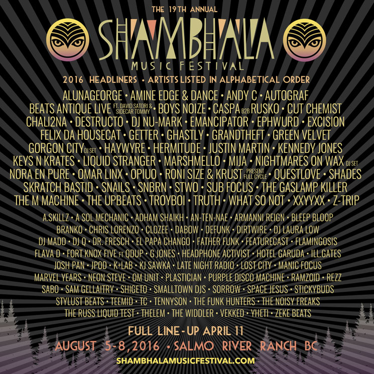 Shambhala Gets Questlove, Rusko, AlunaGeorge, Cut Chemist for 2016 Edition