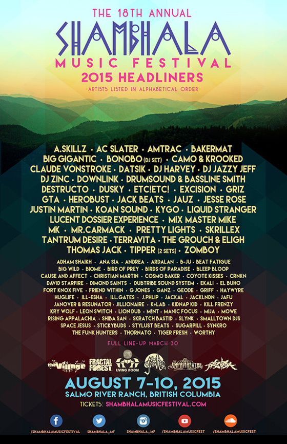 Shambhala Gets Skrillex, Kygo, Pretty Lights as 2015 Headliners
