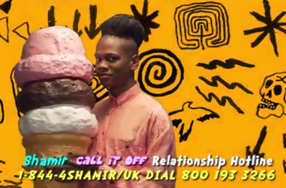 "Shamir Opens ""Call It Off"" Relationship Hotline"