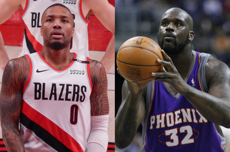 Damian Lillard and Shaquille O'Neal Are Trading NBA Diss Tracks