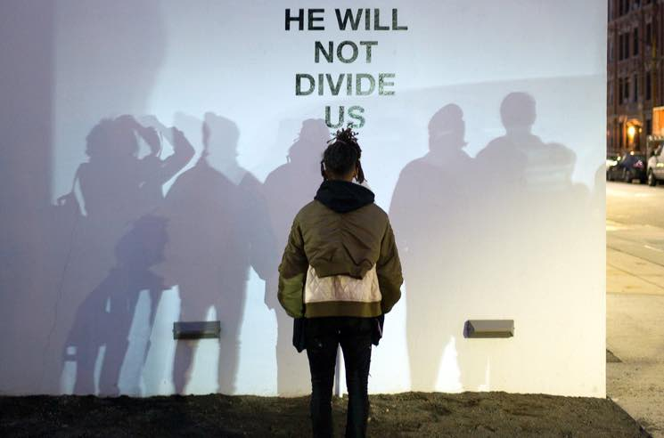 "Shia LaBeouf Launches 4-Year Anti-Trump ""HE WILL NOT DIVIDE US"" Livestream Project"