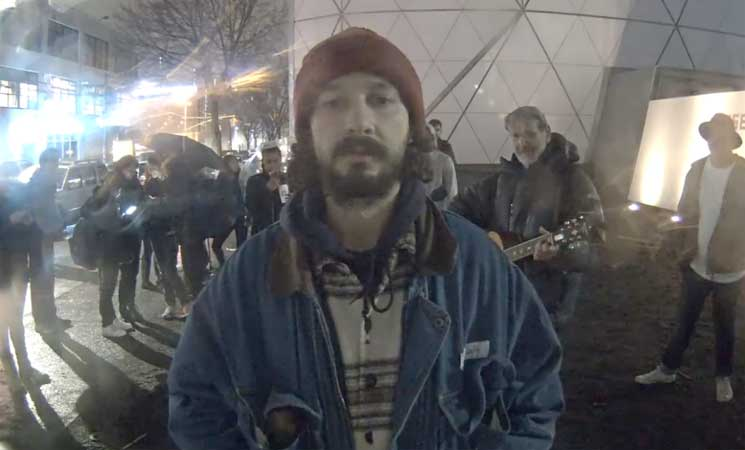 "Shia LaBeouf's Anti-Trump Installation Closed After Becoming a ""Flashpoint for Violence"""