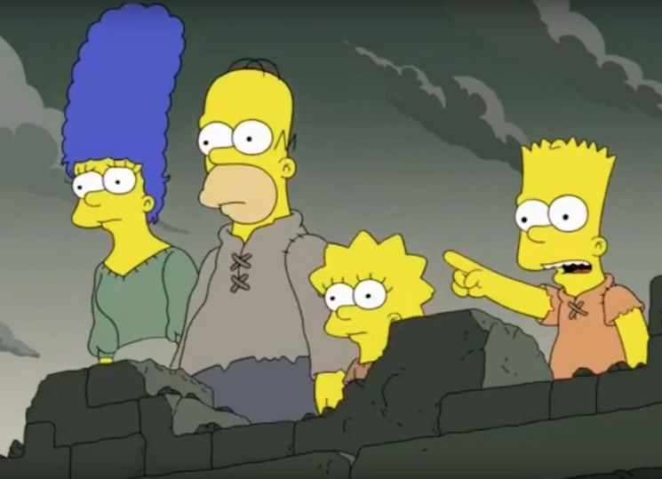 'The Simpsons' Predicted This Week's Big 'Game of Thrones' Twist