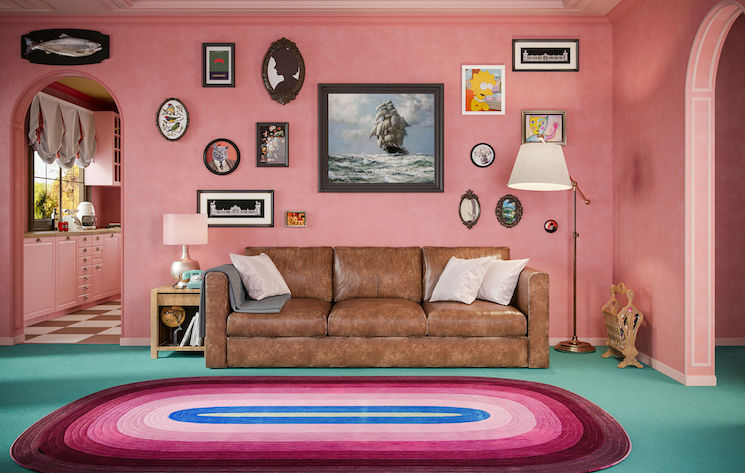 'The Simpsons' House Has Been Recreated to Look Like a Wes Anderson Movie