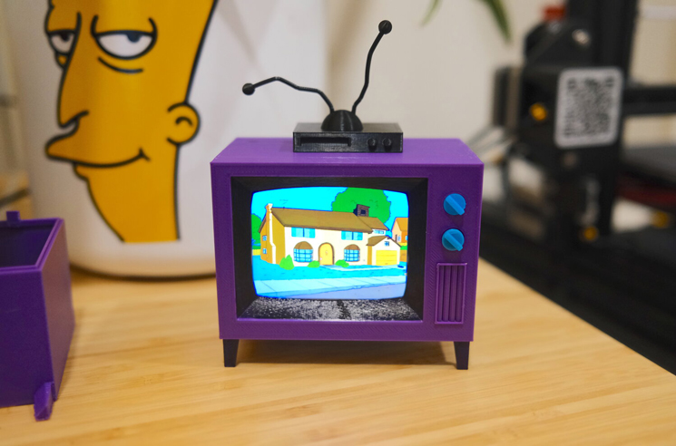 This Guy 3D-Printed a Working 'Simpsons' TV Replica