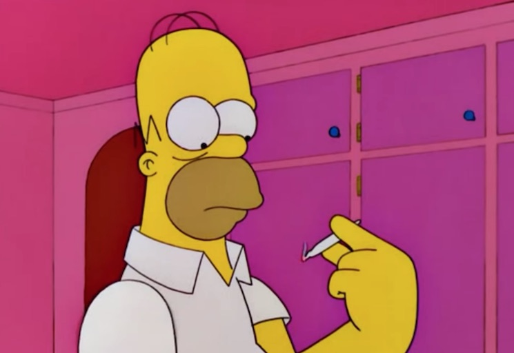 'The Simpsons' Predicted Legal Weed in Canada
