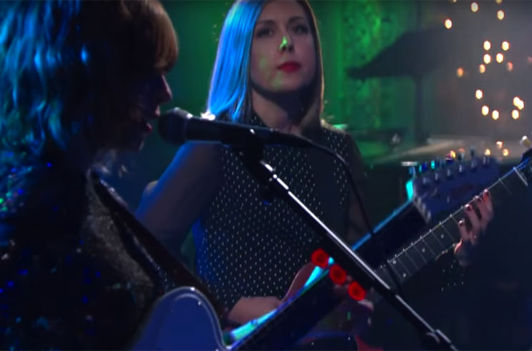 Sleater-Kinney 'Bury Our Friends' (live on 'Colbert')