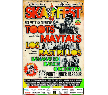 Victoria Skafest Gets Toots & the Maytals, Leroy 'Heptone' Sibbles, the Pietasters for 2012 Edition