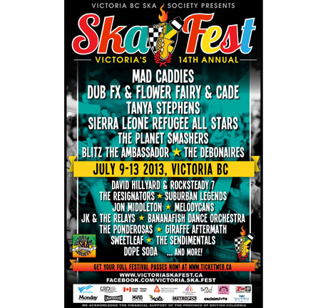 Victoria Skafest Gets Mad Caddies, Dub FX & Flower Fairy, Planet Smashers for 14th Annual Festival