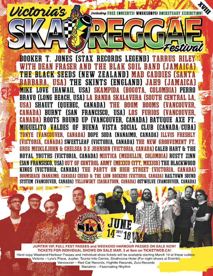 Victoria Ska & Reggae Festival Reveals Full 2017 Lineup