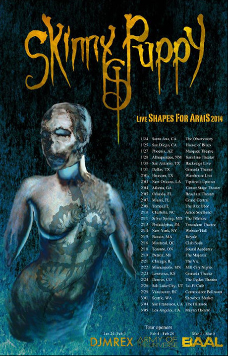 Skinny Puppy Take 'Weapon' on North American Tour, Play Vancouver, Toronto, Montreal