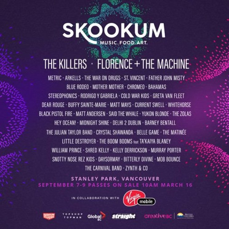 Vancouver's SKOOKUM Festival Gets the Killers, Florence + the Machine, St. Vincent for Inaugural Event