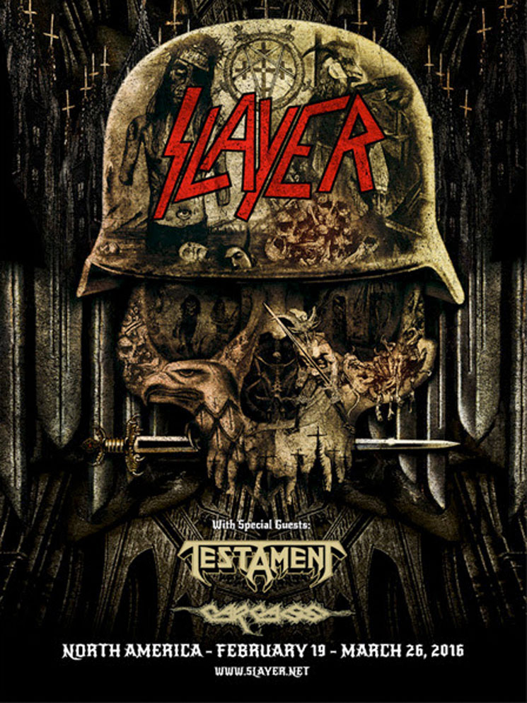 Slayer Book North American Tour with Testament and Carcass
