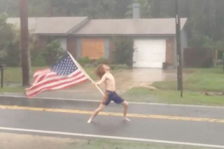 "Florida Metalhead Takes On Hurricane Matthew with Slayer's ""Raining Blood"""