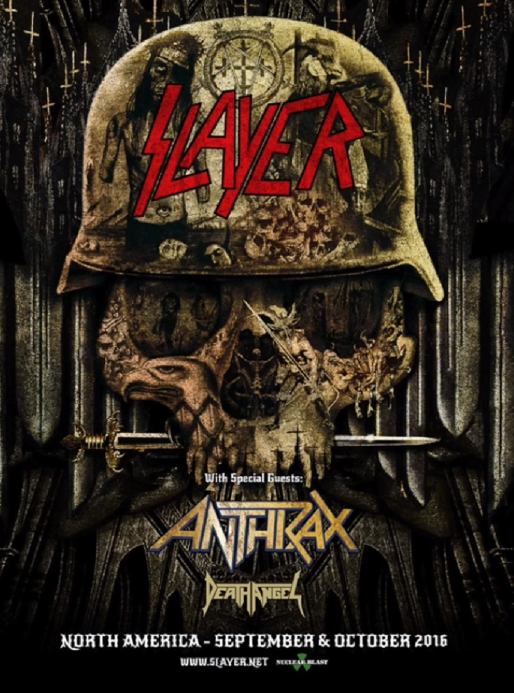 Slayer Take Anthrax and Death Angel on Fall North American Tour