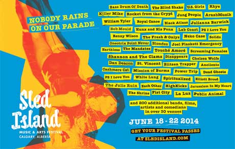 Sled Island Fleshes Out Full 2014 Lineup with Dan Deacon,Oneohtrix Point Never, AraabMuzik