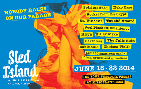Calgary's Sled Island Announces Initial 2014 Lineup with Spiritualized, Neko Case, St. Vincent, Rocket From the Crypt